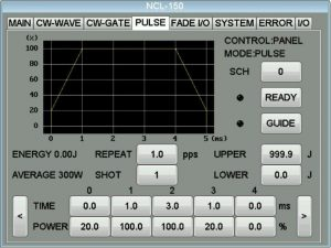 NCL-150設定画面